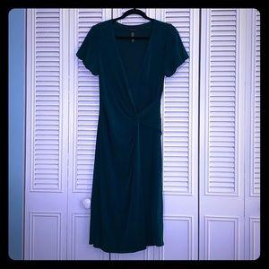EUC High Quality Hunter Green Wrap Dress